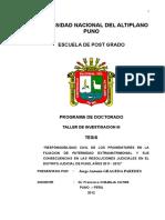 Tesis Responsabilidad Civil de Los Progenitores en La Filiacion de Paternidad Extramatrimonial y Sus Consecuencias