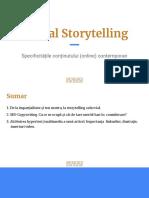 Digital Storytelling - specificitățile conținutului (online) contemporan