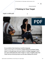 9 Ways to Start Thinking in Your Target Language - English Learning Article - Italki