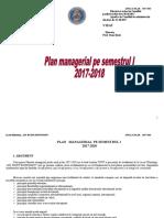 Plan Managerial 2017-2018 LGRR Semestrul I
