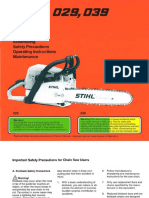 STIHL MS 029 039 Owners Instruction Manual