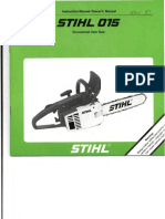 STIHL MS 015 Owners Instruction Manual