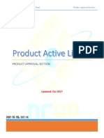Active Product List .31October 2017