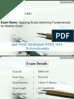 HPE6-A41 Braindumps