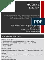 Aula 1 - ALUNO - Apresentação e Matéria e Energia 05-08-16