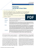 Subclinical Thyroid Dysfunction, Cardiac Function, And the Risk of Heart Failure