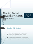 Morning Report Bedah - 17 November 2017