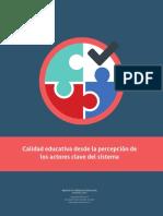Estudio Calidad Educativa Percepcion Actores Clave Del Sistema