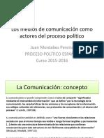 Los Medios de Comunicación Como Actores Del Proceso Político