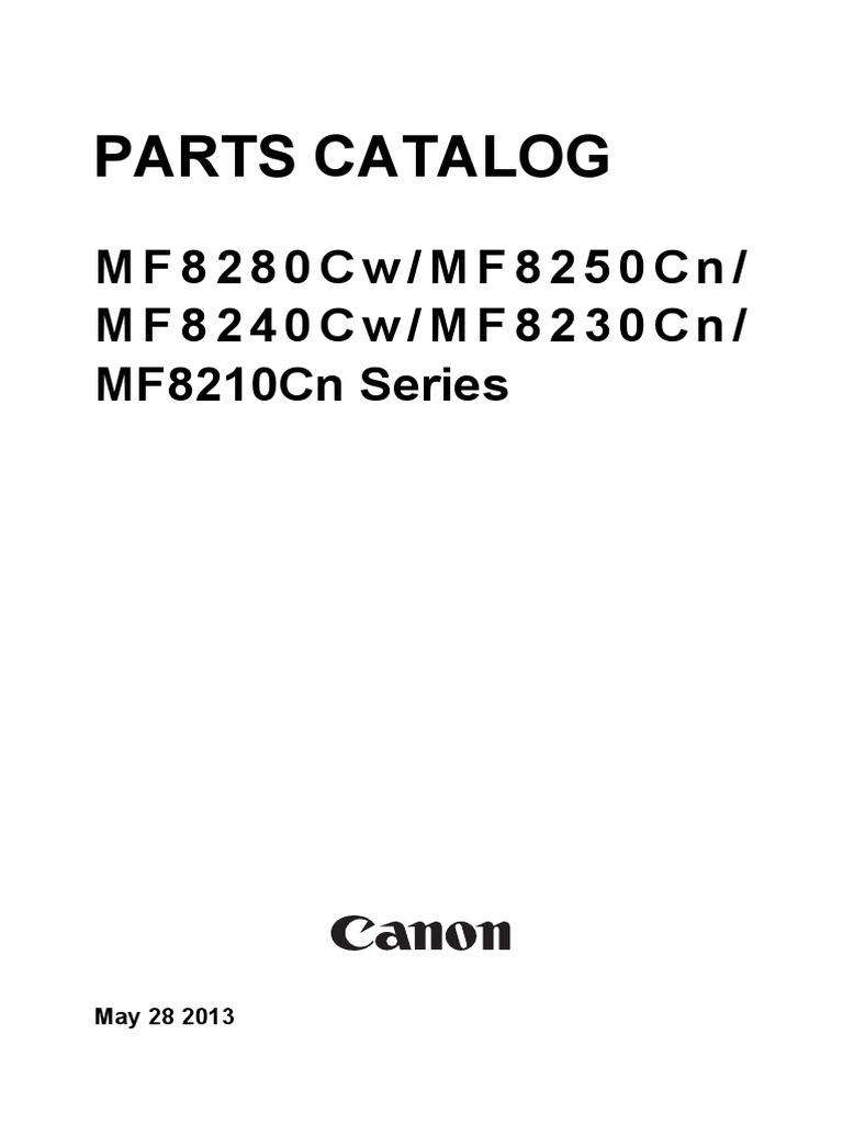 MF8280Cw-MF8250Cn-MF8240Cw-MF8230Cn-MF8210Cn+Series