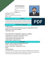 Muhamad Isfahan Bin Sulaiman Resume