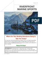 Riverfront Marine Sports Newsletter -- December 2017