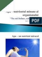 Apa Nutrientul Minune Al Organismului