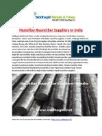 Hastelloy Round Bar Suppliers in India