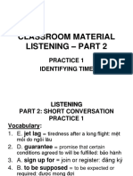 Practice 1- Listening Identifying Time