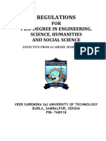 Regulation for Ph.D Programme