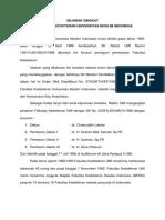 Sejarah & Visi Misi Fk Umi (2013-2018 m)