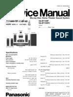 Service (Repair) Manual for Panasonic SA-BT100P
