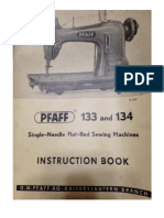 Pfaff 133-134 Instruction Manual