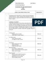 Procedure of Maintenance of DG SET