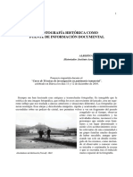 Fotografia Historica Como Fuente de Informacion Documental