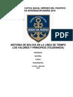 Historia de Bolivia en La Línea de Tiempo Rescatando Los Valores y Principios