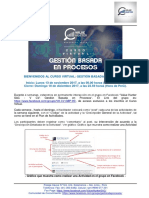 Bienvenida - CV - Gestión Basada en Procesos - 13 NOV 2017