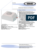 Catalogo Tecnico Sensor de Presenca Sps601b