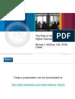 Internal Audit Funstion in Universities