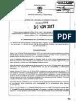 Decreto 1998 Del 30 de Noviembre de 2017