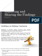 353574333-Reporting-and-Sharing-the-Findings.pptx