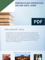 Kebudayaan Kesehatan Dalam Suku Jawa