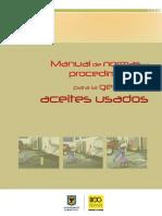 Manual de Normas y Procedimientos Para Aceites Usados