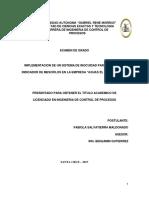 """SISTEMA DE INOCUIDAD PARA REDUCIR EL INDICADOR DE MESOFILOS EN LA EMPRESA """"AGUAS EL PALMAR S.R.L."""
