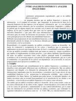 Diferencias Entre Analisis Económico y Analisis Financiero