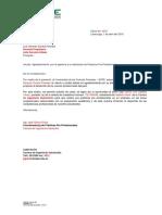 SGCDI463 FORMATO 8 Modelo Carta de Agradecimiento