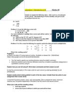 Assignment 1 # Regarding R