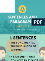 Sentences and Paragraphs (1)