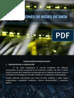 Diapos Instalaciones Cables de redes de data