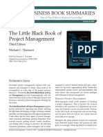 The Little Black Book of Project Mgt