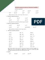 ENTEROS Potencias Notacion Cientifica