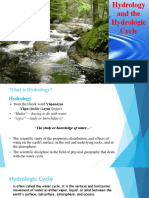 Hydrology and the Hydrologic Cycle