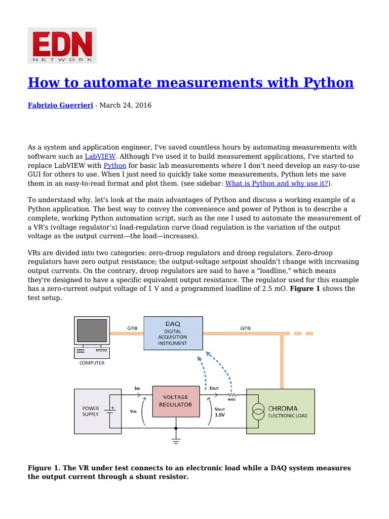 How to Automate Measurements With Python | Python (Programming