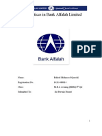 HR Practices in Bank Alfalah Limited