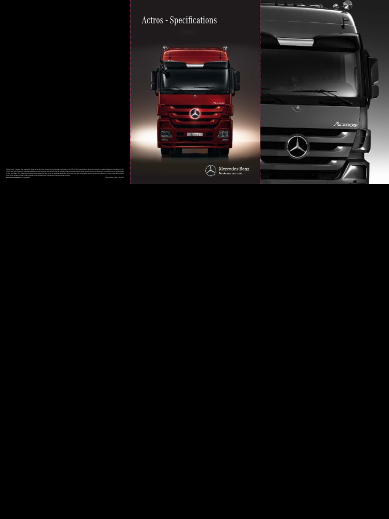 Mbsa Actros Specification Fa1 Transmission Mechanics Engines Mercedes Benz Wiring Diagram