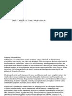Professional Ethics-unit 1