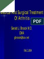 Medical Tretment of Arthritis