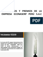 Certificados y Premios de La Empresa Econaserp Perú