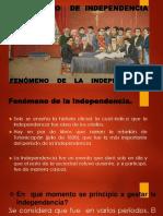Diapositivas Fenomenos de Independencia