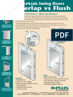 Swing Doors - Overlap vs. Flush Doors Detail Sheet